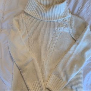 Northern reflections soft white turtleneck sweater